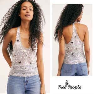NEW FREE PEOPLE Since You Sequin Tank